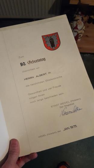 Albert Urkunde