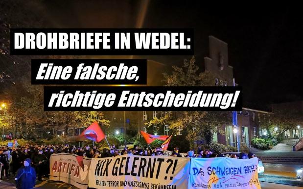 Drohbriefe in Wedel: Eine falsche, richtigeEntscheidung!